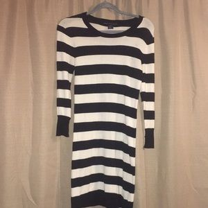 Women's black and white stripped dress. Size 6